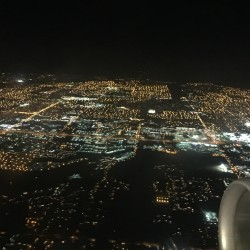 Night time from the plane